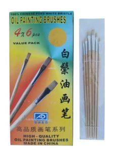 قلم موی رنگ روغن چینی ۶ عددی